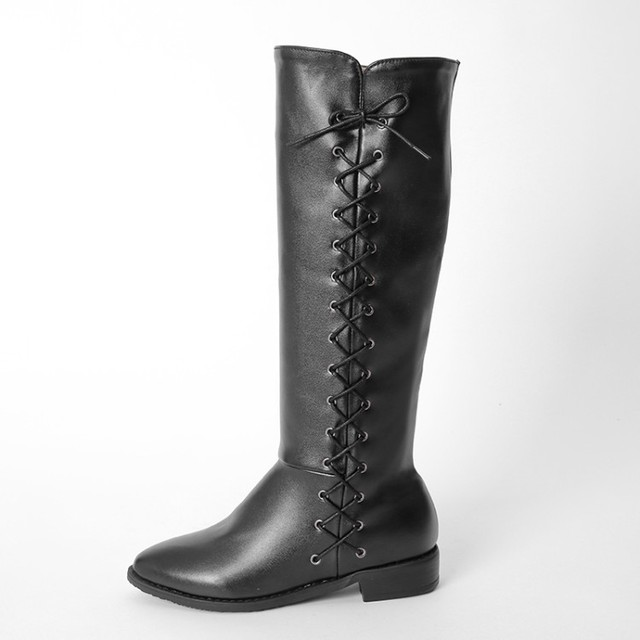 243e327aea3 Winter Boots Botas Mujer Big And Small Size 34-47 Women Shoes Knee High  Boots Round Toe Square Height Increasing Quality 773