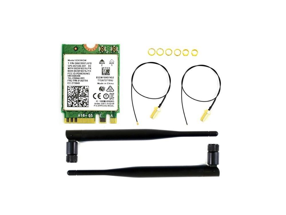 AC8265 Wireless NIC For Jetson Nano 2.4G / 5G WiFi / Bluetooth 4.2 Support Linux, Windows 10/8.1/8/7