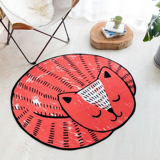 Schöne Katze Bodenmatte Kreative Cartoon Schlafzimmer Wohnzimmer Computer  Schreibtisch Rosa Blau Grau Rot Hause Teppich