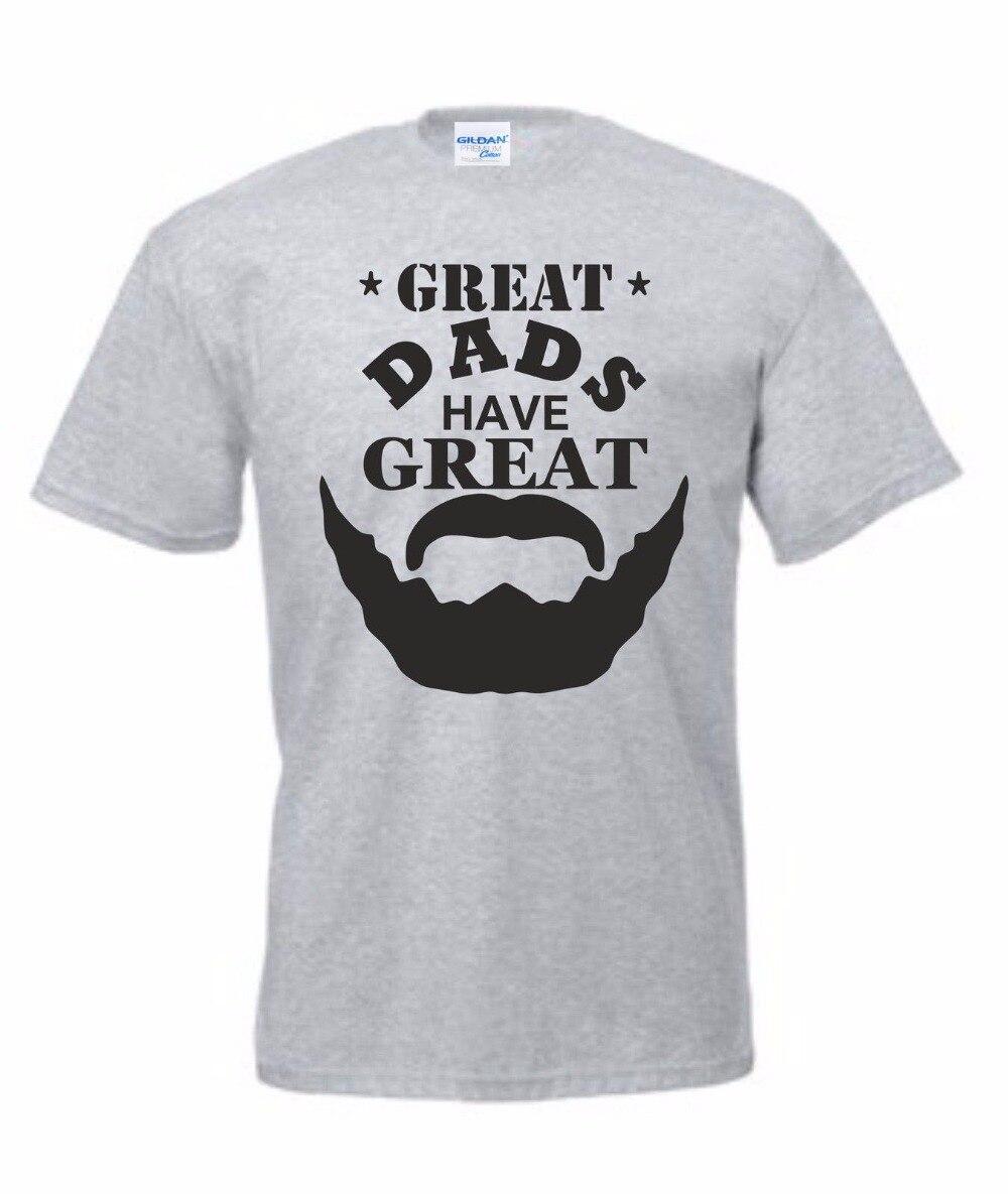2018 New Fashion Brand Clothing Basic Style Hip Hop O Neck T Shirt Fathers Day T-Shirt Bearded Present Xmas Daddy Birthday