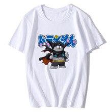 BTFCL Summer Cotton Harajuku Aesthetics Tshirt Women Hipster Robot Cat Short Sleeve Tops Tees Camiseta Casual Couple T Shirt