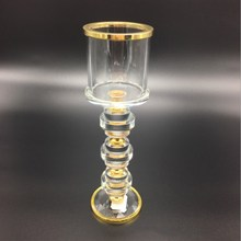 Crystal Candlestick Decoration Wedding Hotel Family Dining Table Candle Cup White Crafts Home