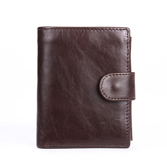 The new oil wax leather wallet large capacity wallet men's leather wallet short wallet zero