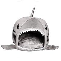 ハウスペット犬暖かいソフト寝袋ベッドシャーク犬小屋猫ベッド洞窟クッション枕かわいい巣マットペットアクセサリーfp8