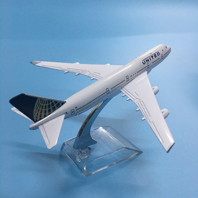 American Air United Airlines Boeing 747 B747 400 Airways 16cm Alloy Metal Plane Model Aircraft Airplane Model w Stand Gift 4