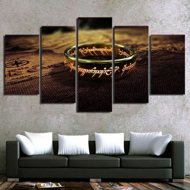 HD Print 5pc game of thrones Lord of the rings painting canvas wall art picture living & HD Print 5pc game of thrones Lord of the rings painting canvas wall ...
