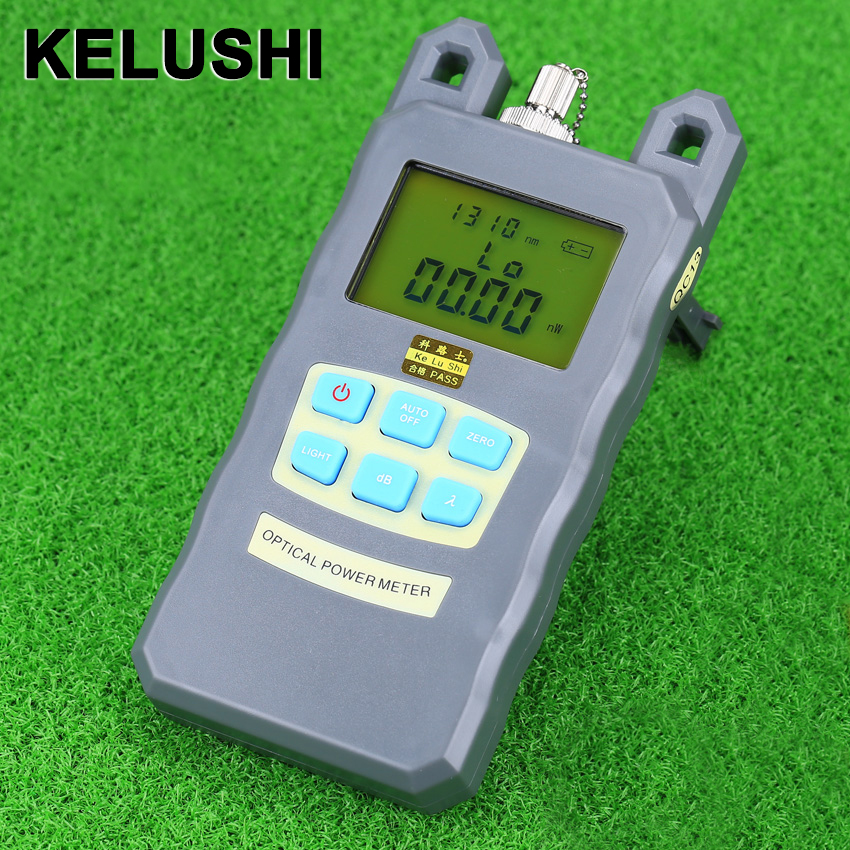 KELUSHI nya Precision Fiber Optic Power Meter Tester Sju våglängds optisk effektmätare