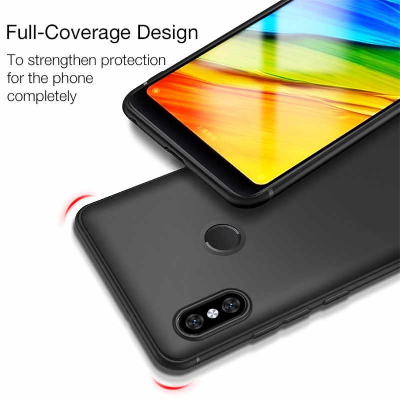 Чехол для Xiaomi Redmi 5 плюс матовый чехол красный mi 4X 4A Примечание 4X Примечание 5 Чехол 5A 6A 6X красный mi S2 mi 8 5X A2 mi x 2 мягкий чехол для телефона