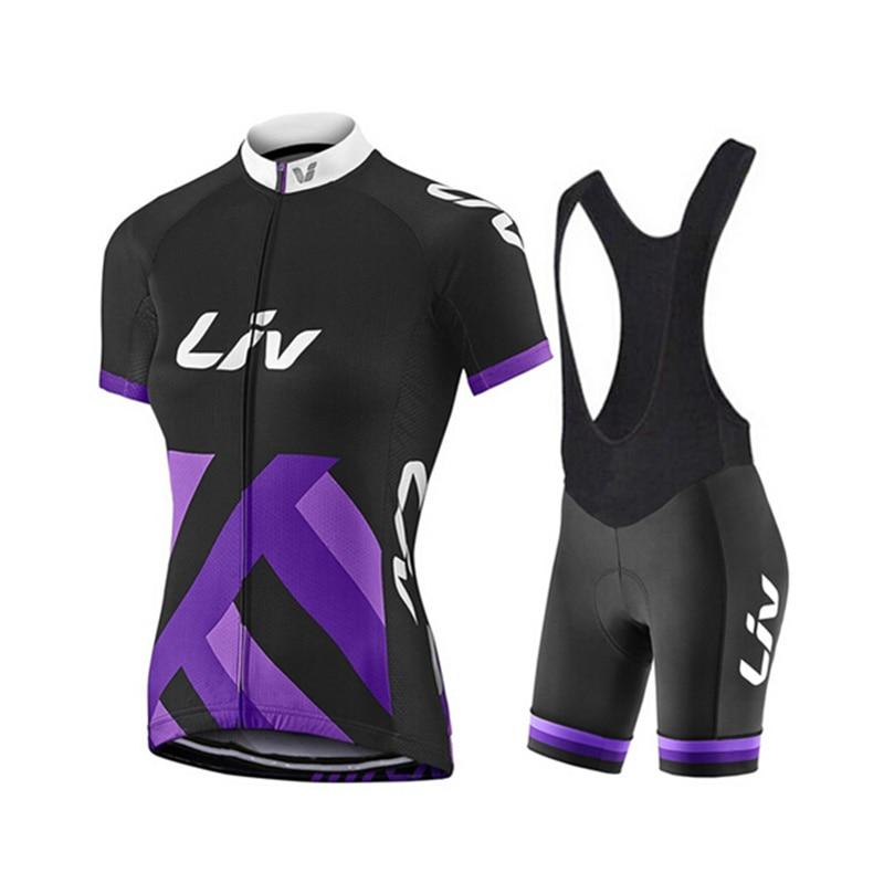 2017 New LIV women cycling clothing mujer maillot ciclismo Bike Short Sleeve summer Cycling jersey mtb bib short set