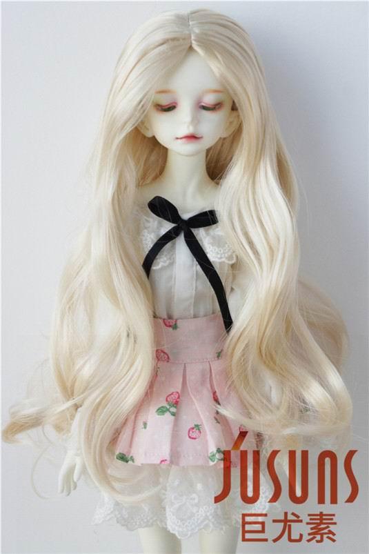 купить JD028B 1/4 MSD doll wig  Alice Fancy long curly BJD wig syntheitc mohair wigs 7-8inch Resin doll accessories дешево