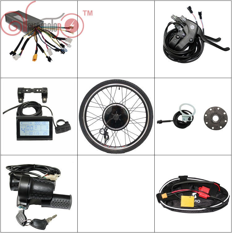 EU DUTY FREE ConhisMotor 36V 48V 750W Ebike Conversion Kits 24 26 28 29 Hub Motor Rear Wheel 25A Controller Electric Bike