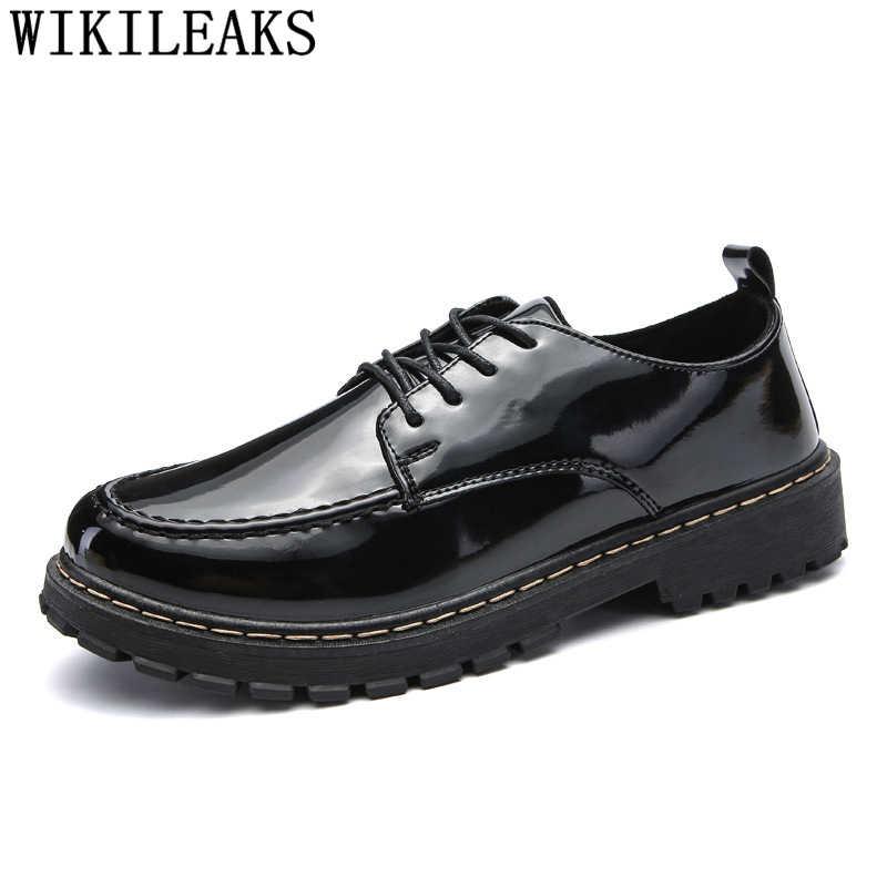 สิทธิบัตรหนังรองเท้าบุรุษรองเท้าสบายๆยี่ห้อ designer รองเท้าผู้ชายคุณภาพสูงรองเท้าแฟชั่น 2019 chaussure homme tenis masculino