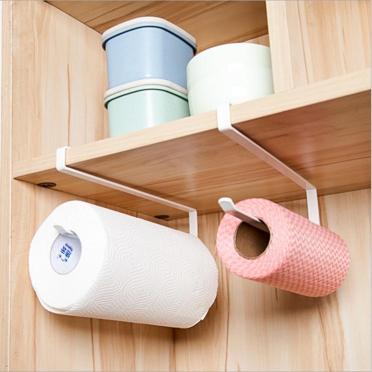 Responsible Hot 2pcs Paper Towel Holder Dispenser Under Cabinet Paper Roll Holder Rack Without Drilling For Kitchen Bathroom Retail Home Improvement Paper Holders