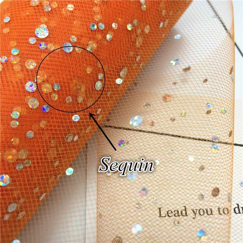 Glitter Sequin 25 Yards 6 inch Tulle Roll Spool Tutu Stof Bruiloft Decoratie Organza Laser DIY Ambachten Verjaardag Feestartikelen