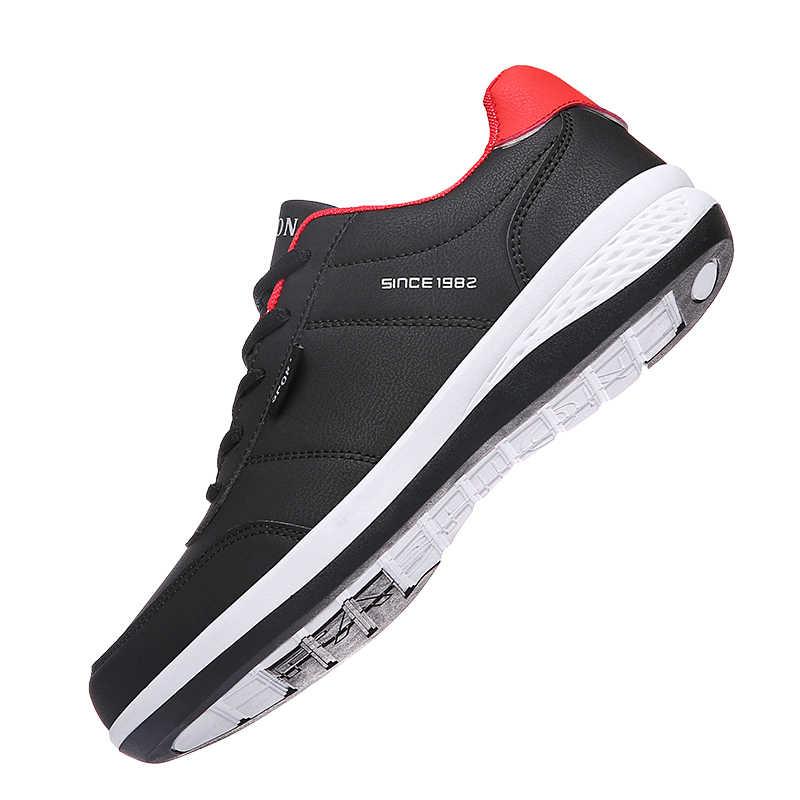 Ozersk Mannen Sneakers Mode Mannen Casual Schoenen Leer Ademend Man Schoenen Lichtgewicht Mannelijke Schoenen Volwassen Tenis Zapatos Krasovki