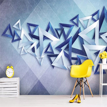 3D triangle modern simple abstract background wall
