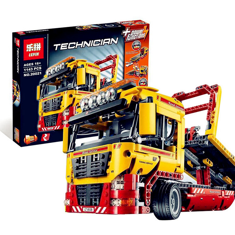 Lepin Technic Series 1143pcs Building Blocks toys for Childrens Flatbed Truck Bricks toy gifts Compatible Legoe Technic 8109 dhl new lepin 06039 1351pcs ninja samurai x desert cave chaos nya lloyd pythor building bricks blocks toys compatible 70596