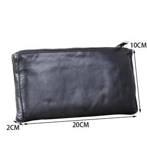 Image 5 - AETOO portefeuille en cuir fait à la main, couche de tête horizontale en cuir de vache