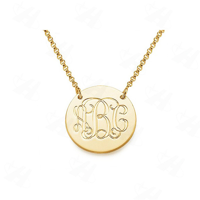Custom necklace gold monogram initial letter pendant necklace custom necklace gold monogram initial letter pendant necklace fashion necklaces for women 2014 best friends jewelry in pendant necklaces from jewelry mozeypictures Image collections