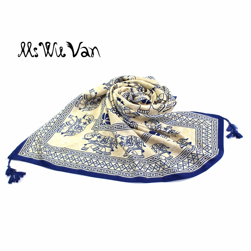 Bohemian Elephant Scarf Mandala Floral Indian Women Scarves Hippie Gypsy Printed Tippet Tribal Shawls Boho Pareo Beach Sarongs