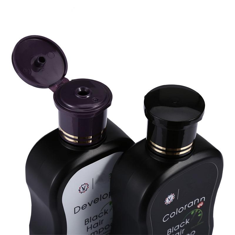 Купить с кэшбэком 200mlX2 Economic Set Dexe Black Hair Shampoo Only 5 Minutes Hair Color Hair Dye