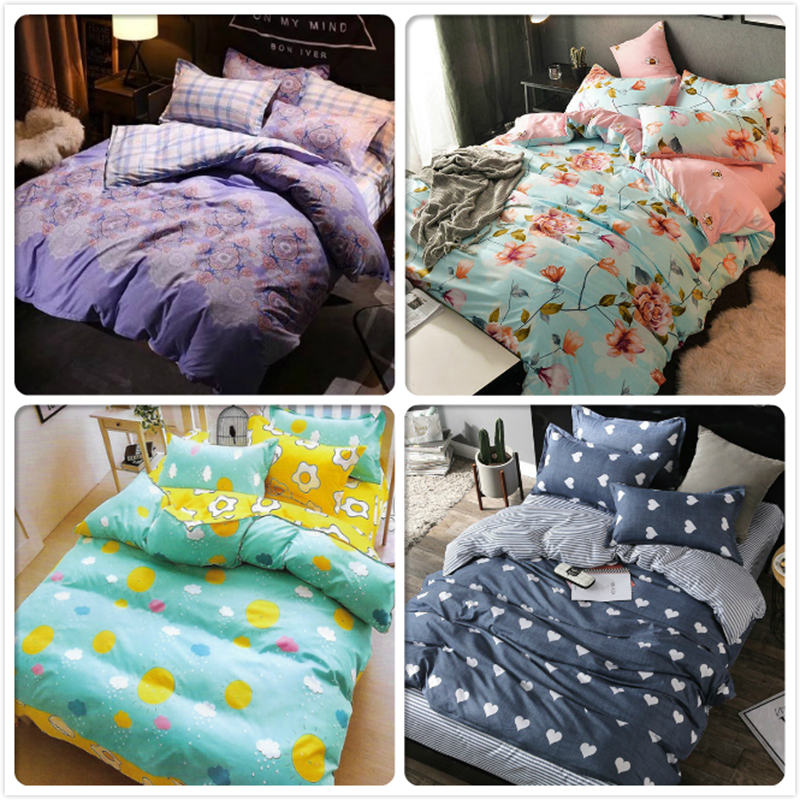Fitted Sheet 4 pcs pieces Bedding Set Kids Cotton Bed Linen 150x230 Duvet Cover Single Twin Full Queen Size 1.2m 1.5m BedclothesFitted Sheet 4 pcs pieces Bedding Set Kids Cotton Bed Linen 150x230 Duvet Cover Single Twin Full Queen Size 1.2m 1.5m Bedclothes
