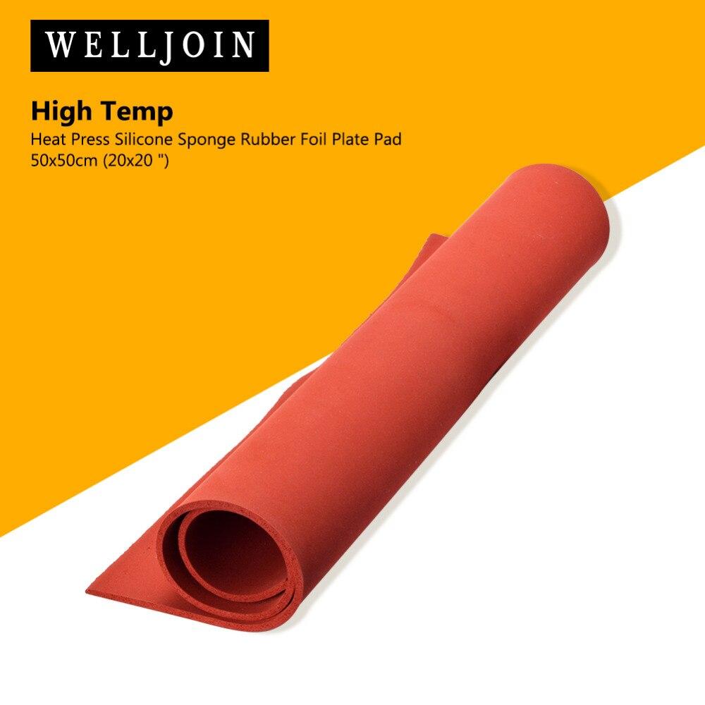 Heat Press Silicone Sponge Rubber Sheet Plate Pad 50x50cm(20x20) High Temp 2cm thickness