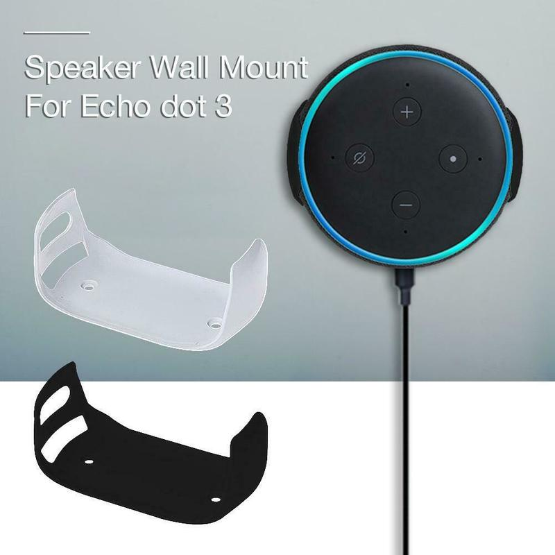 For Amazon Echo Dot 3 Wall Mount Third Generation Intelligent Audio Bracket Outlet Mount Hanger Holder For Echo Dot (3rd Gen)