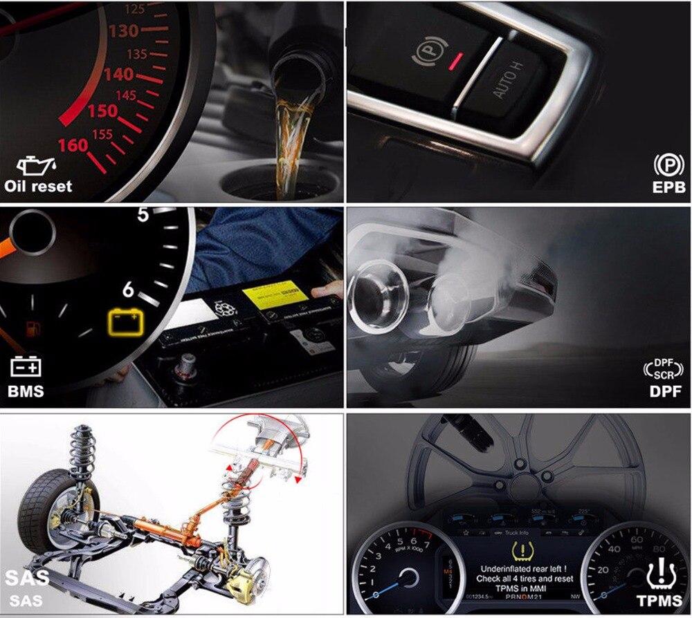 Image 2 - Autel MaxiCOM MK808 MX808 Автомобильный сканер OBD2 Автомобильная диагностика obd ii сканер универсальный инструмент полные системы Авто считыватель кодов ABS-in Мультиметры и анализаторы from Автомобили и мотоциклы
