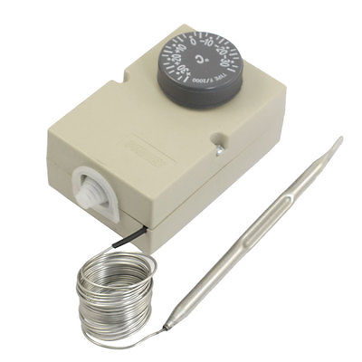 1NC 1NO AC 250V 16A -30-30C Temperature Thermostat Switch Sensor w 63 Capillary 50 pcs ksd9700 bimetal temperature switch thermostat 55 degree nc
