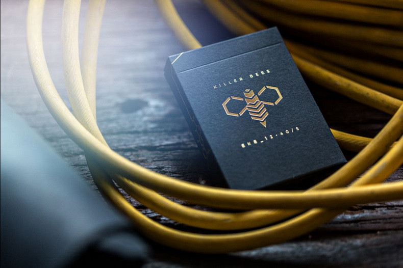 1deck Ellusionist Killer Bee Playing Cards Poker Magic Collectable Killer Bees Deck Magic Trick Poker Magia Toys