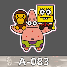 A 083 SpongeBob Waterproof Fashion Cool DIY Stickers For Laptop font b Luggage b font Fridge