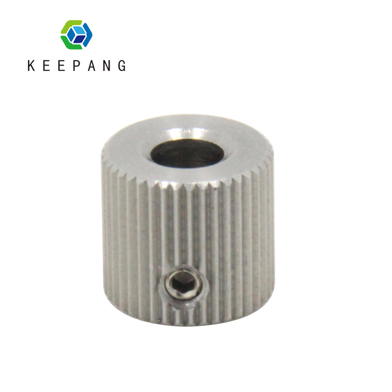 1PC 40 Teeth Bore 5mm Extruder Feeder Pulley For Makerbot MK7 MK8 Stainless Steel Wheel Pulley Gear 3D Printer Parts 3d printer accessory brass nozzles 0 5mm mk8 makerbot golden 2 pcs