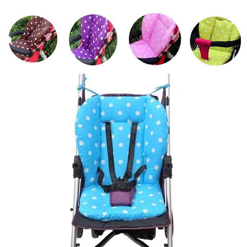 1 Pc font b Baby b font Infant Stroller Pushchair Cotton Seat Cushion Mat White Dot