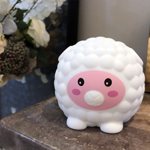 7 Colors Multicolor Cartoon  Cute Sheep Pat Light Soft Silicone Table Lamp Home Decor for Baby Kids Touch Control Night