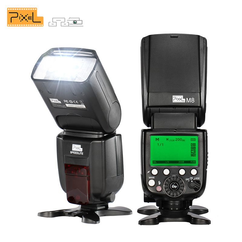 Pixel M8 Universal Flash Speedlite 2.4G Wireless Transmission with King Pro receiver For Canon Nikon Sony VS YN560 III JY680A pixel m8 wireless universal speedlight flash light gn60 for canon nikon sony pentax fujifilm lumix dslr camera vs jy680a yn560iv