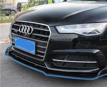 ABS Karbon Fiber Ön Dudak Bölücüleri Tampon Önlükleri Bardak Kapakları Spoiler Için AUDI A6 S6 C7 C7.5 2017 2018 2019 EMS TARAFıNDAN