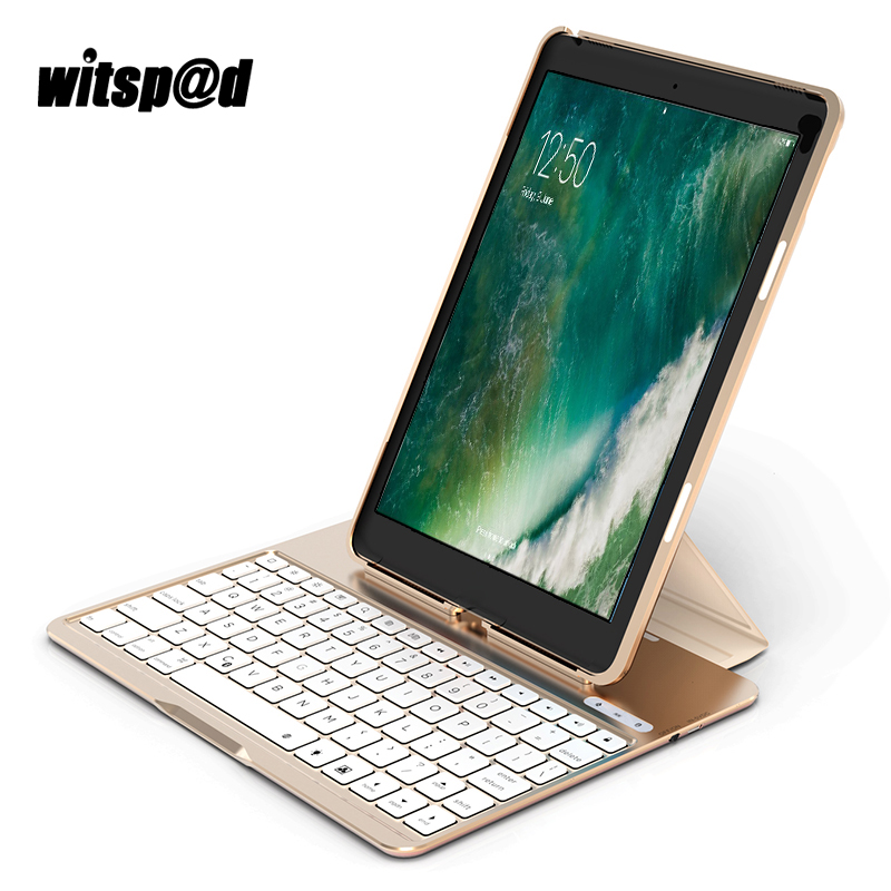 Witsp@d USB Backlit Keyboard for iPad Pro 9.7 Wireless Keyboard With Protective Keyboard Case Cover For Tablets Laptop Notebook new notebook laptop keyboard for dell studio 15 1535 1536 1537 0kr770 backlit french layout