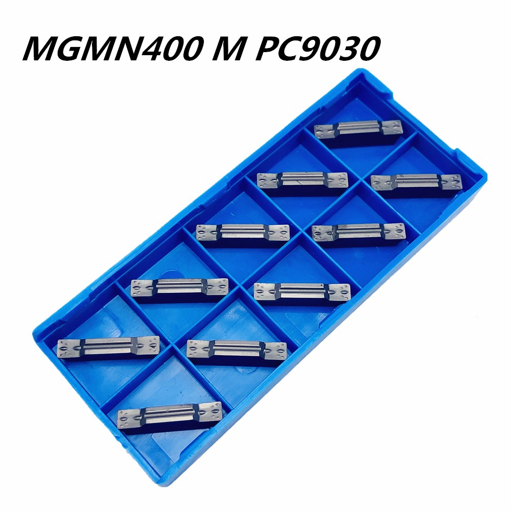 10Pcs Slotting MGMN400 M PC9030 Carbide Insert Metal Turning Tool Tools Lathe CNC Parts and