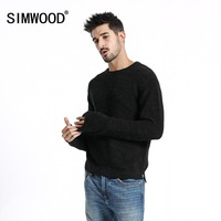 SIMWOOD Brand Sweater Men 2019 Winter Fashion Black Pullovers Men Knitted Sweater Slim Fit Male Plus Size High Quality 180550