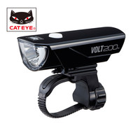 CATEYE VOLT200 Cycling Headlight Portable Bicycle Safety Light Bike Front Handlebar USB Rechargeable Flashing Helmet Lights