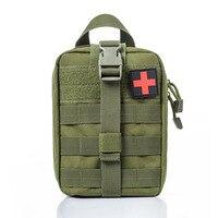 Зеленый цвет мини сумка для путешествий аптечка для выживания Портативный выживания тактический аварийный мешок для первой помощи военный...