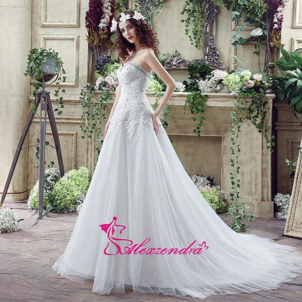 Alexzendra Klänningar A Line Beaded Wedding Dress Sweetheart - Bröllopsklänningar - Foto 2