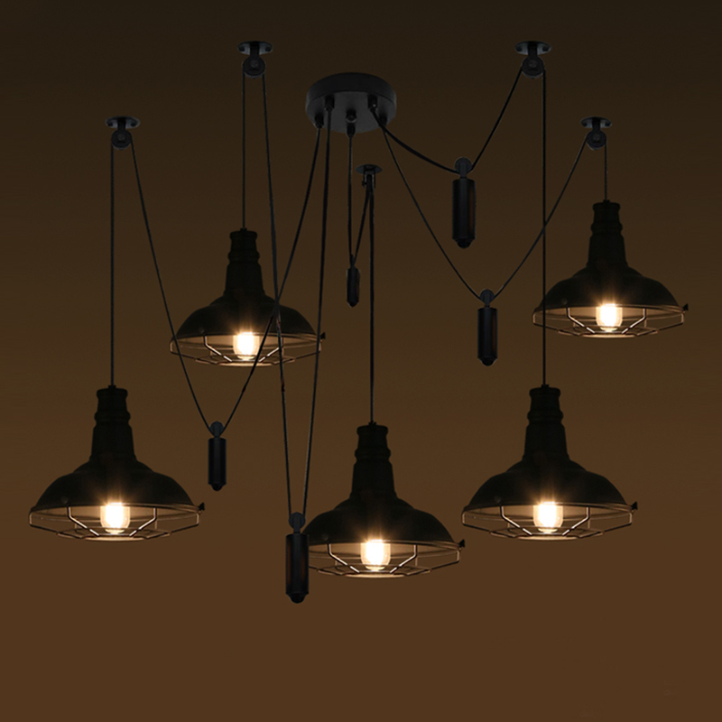 Loft antique ceiling vintage pendant lights lights for Living room hanging lights