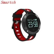 Smartch 2017 DM58 Смарт часы Шагомер Браслет сердечного ритма Мониторы IP68 смарт-браслет вызова монитора артериального давления Спорт fitne