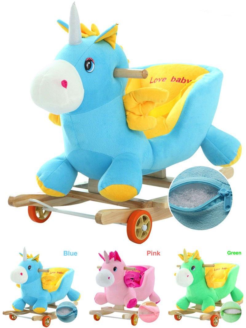 Unicorn Toys For Kids : Newest rid on rocking horse newborn baby ride animal