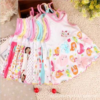 Sukienki dla dzieci dziewczyny odzież dla niemowląt 0-2 lata dziewczęta odzież dla niemowląt odzież dla niemowląt letnie ubrania z nadrukiem haft Girl Kids Dress tanie i dobre opinie mylidamy Cartoon Bez rękawów REGULAR Na co dzień Pasuje prawda na wymiar weź swój normalny rozmiar basic cotton Kolan