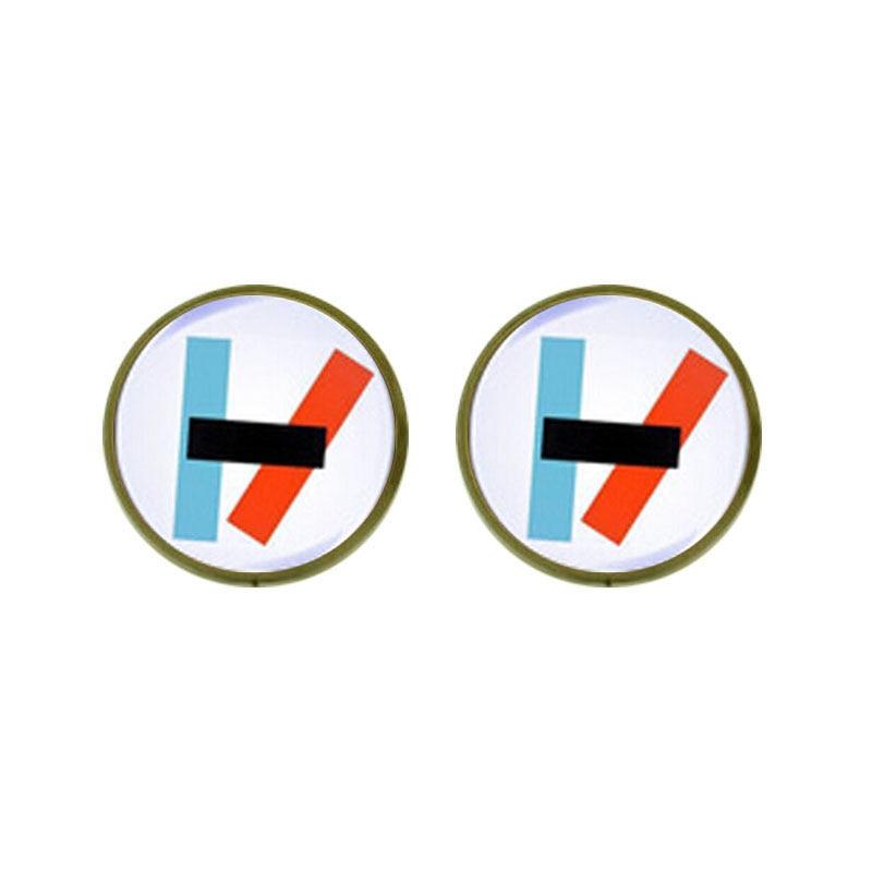 Twenty One Pilots Alternative Band Blurryface Microphone wholesale Earrings 12mm/0.47inch mens 1pair/lot Womens Jewelry earring