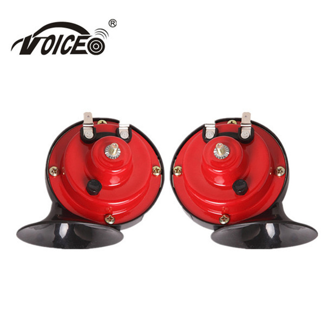 Electric Vehicle Horn 1 Pair Loud Klaxon Horn Speaker Alarm 12V Car Styling Parts Loudness 95mm Tone Snail Horn For Auto