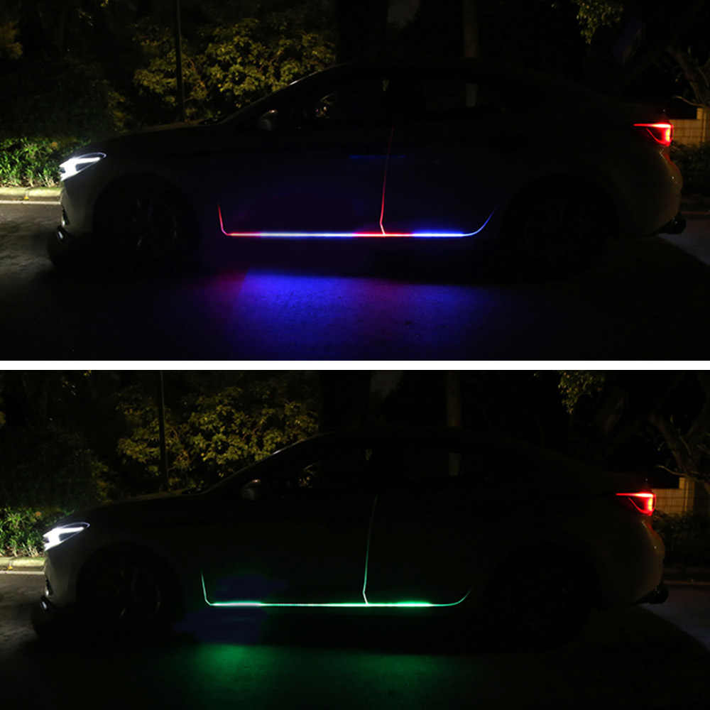 12v Auto Tur Licht Led Autos Tur Rand Warnung Licht Atmosphare Streifen Lampe Fernbedienung Rgb Streifen Lichter Fur Auto Lichter Aliexpress